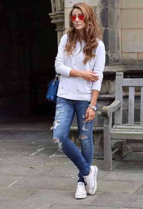 Jeans & converse
