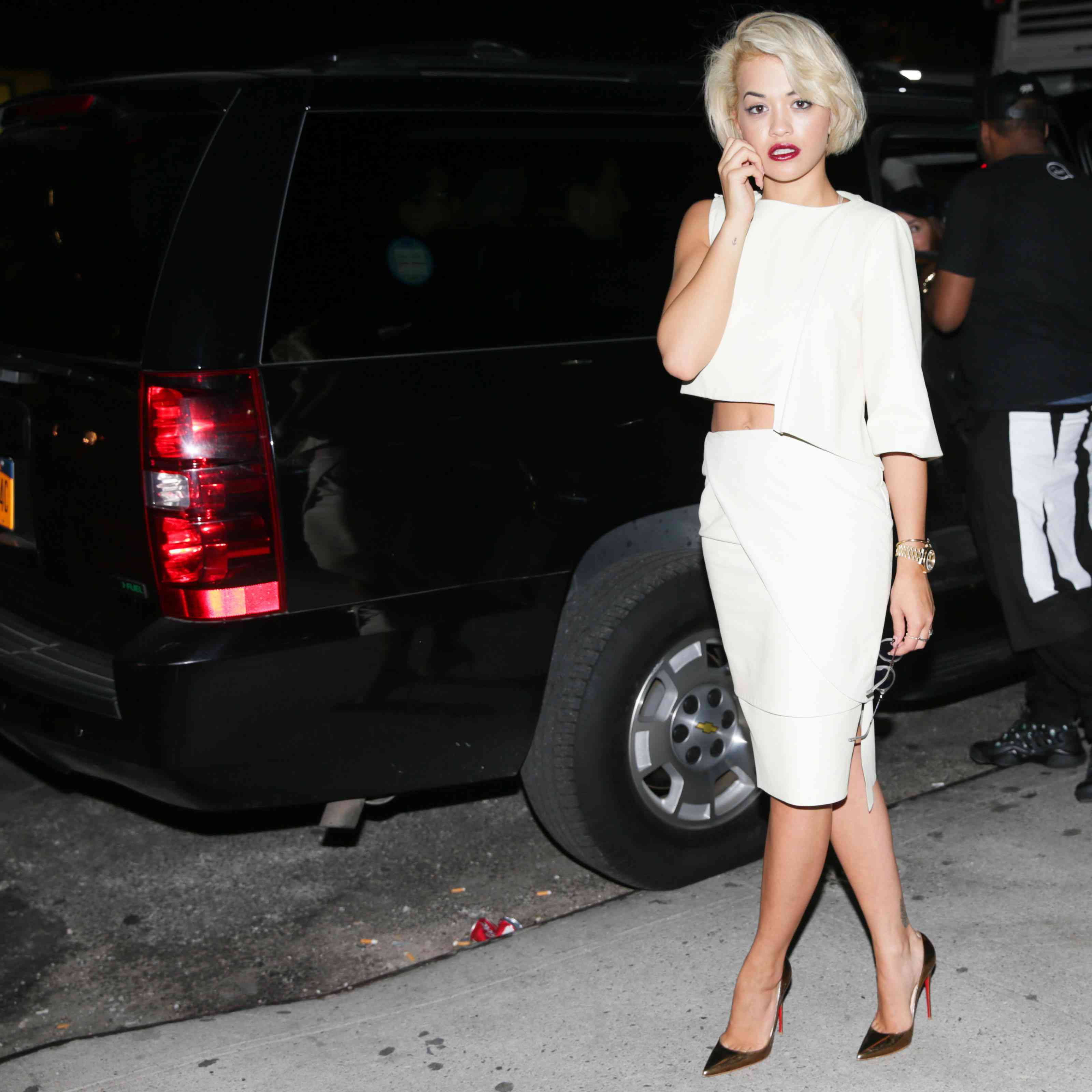 Rita Ora pencil skirt