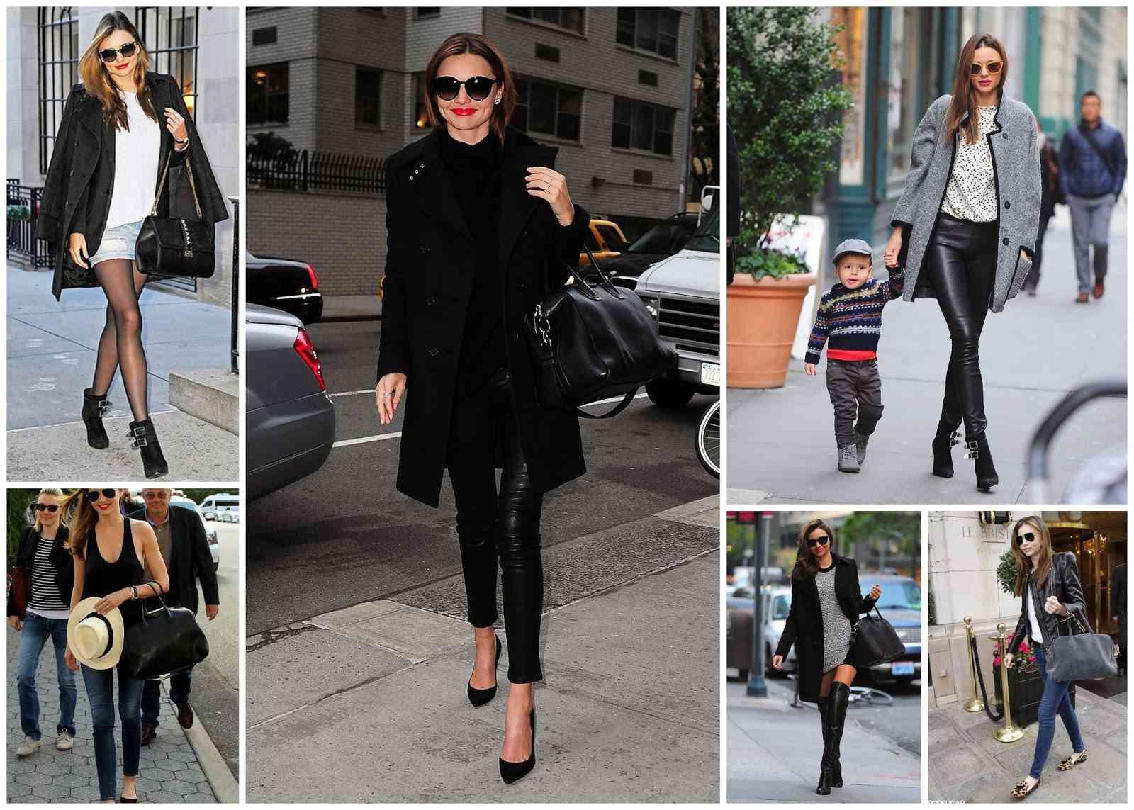 Miranda Kerr - black outfit