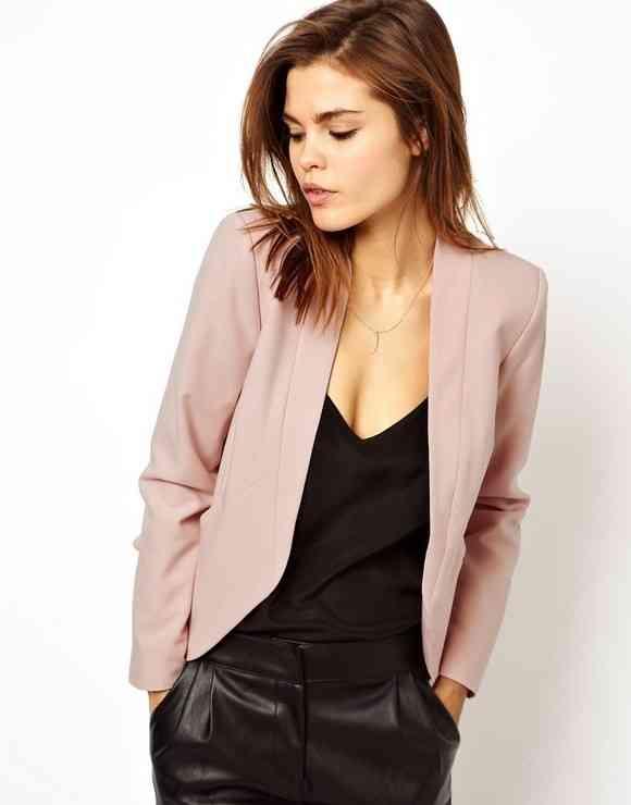 blazer roz pudrat