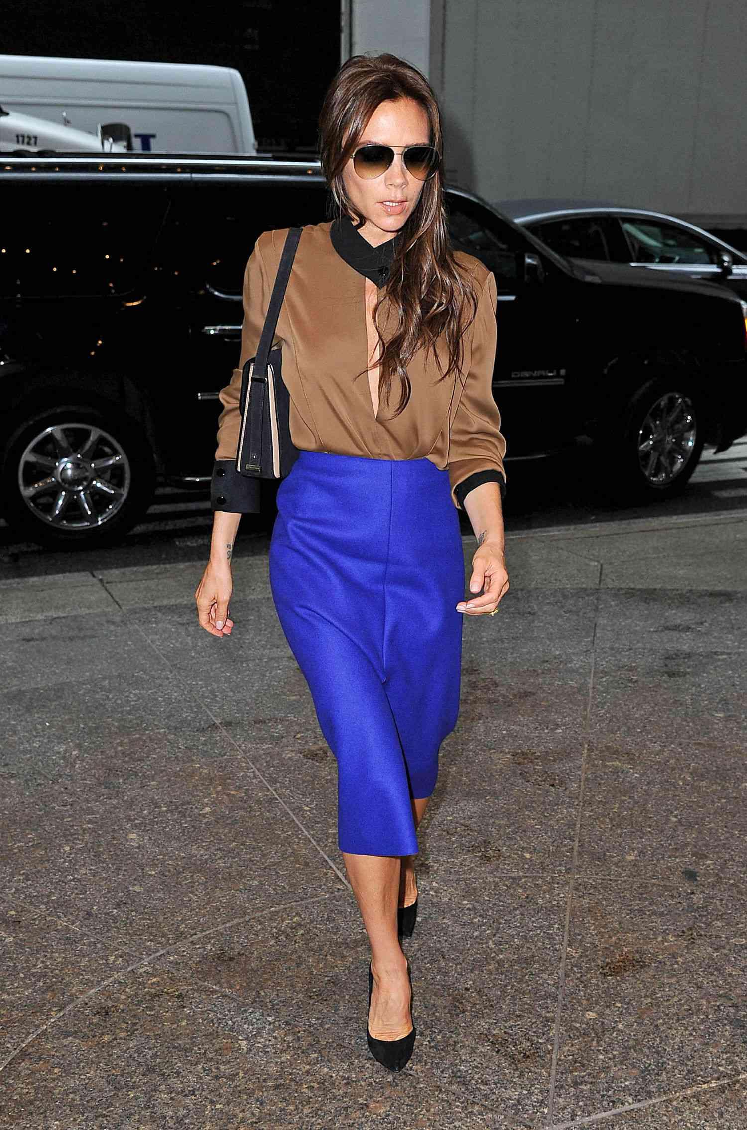 victoria-beckham-midi length skirt