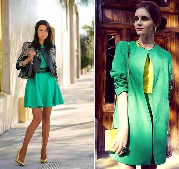 culori potrivite brunetelor_verde