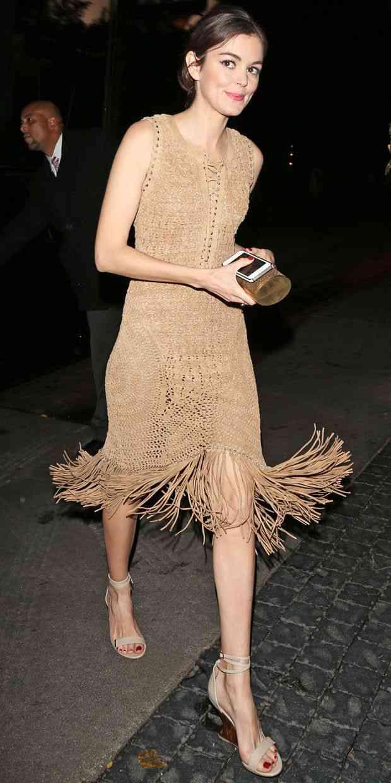 rochie cu franjuri