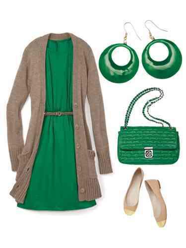 outfit cu verde
