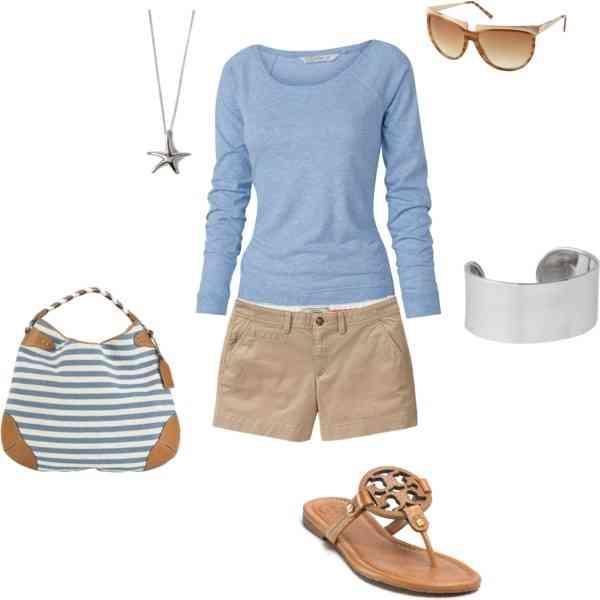 outfit de vacanta bleu