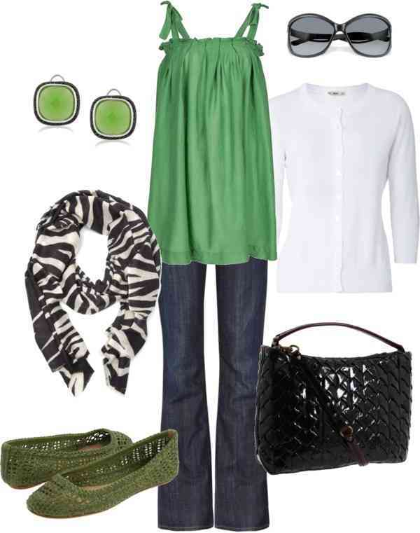 outfit casual verde
