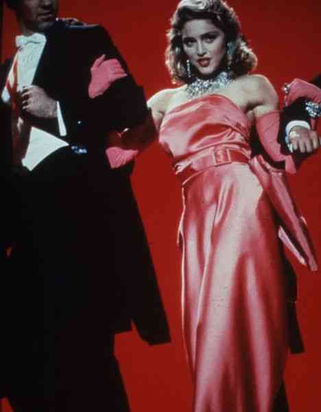 Madonna in 'Material girl' video, January 1986.