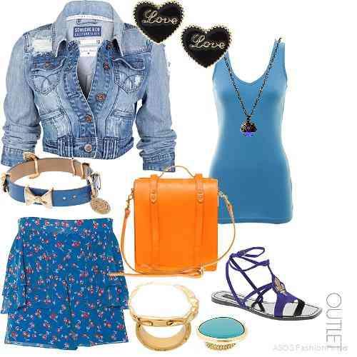 outfit bleu