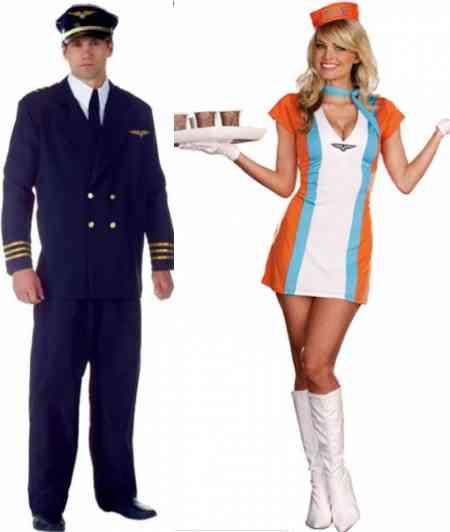 costum pilot si stewardesa