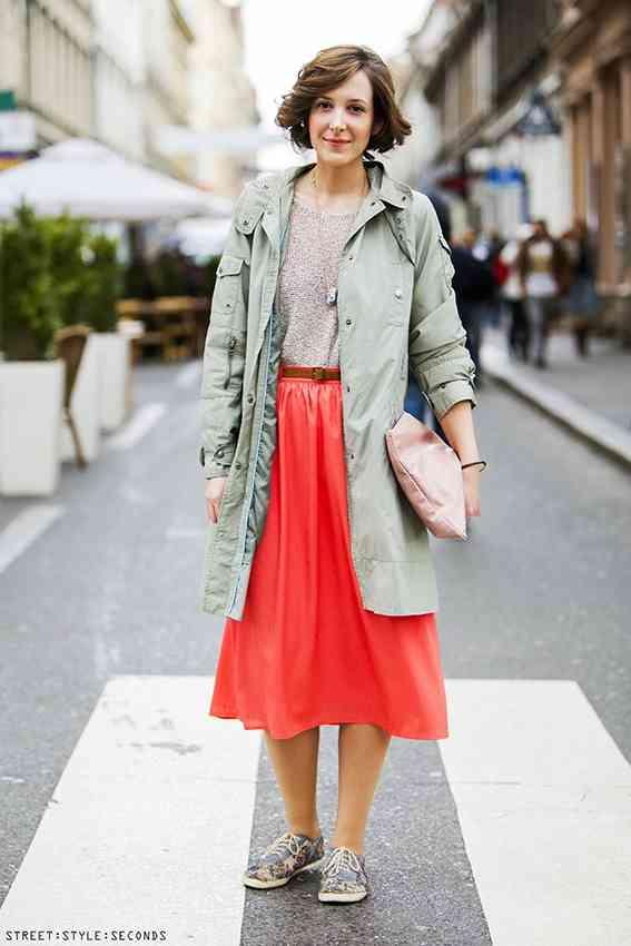 fusta midi la moda