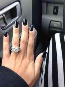 mani negru simplu