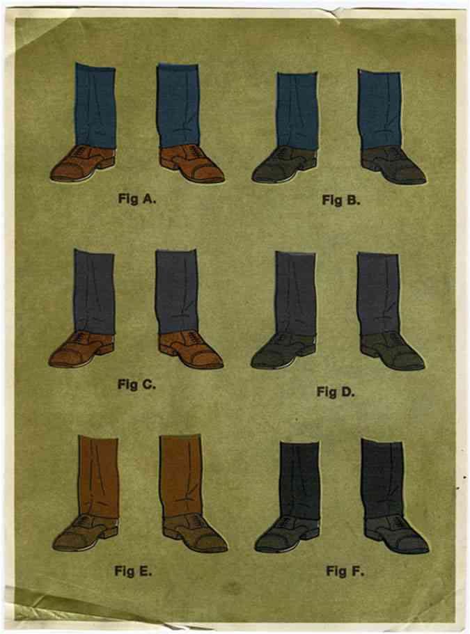 pantalni sosete pantofi