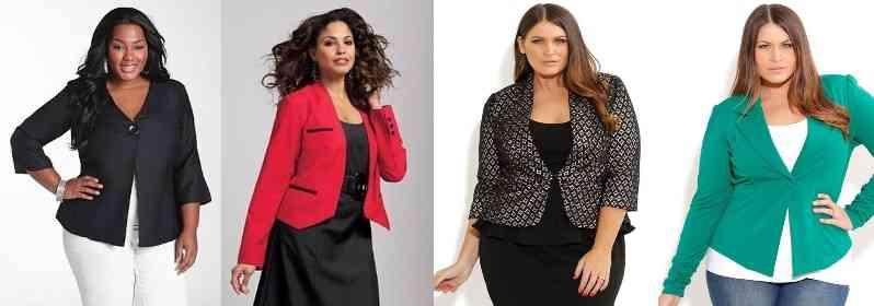 jachete pentru femei plinute