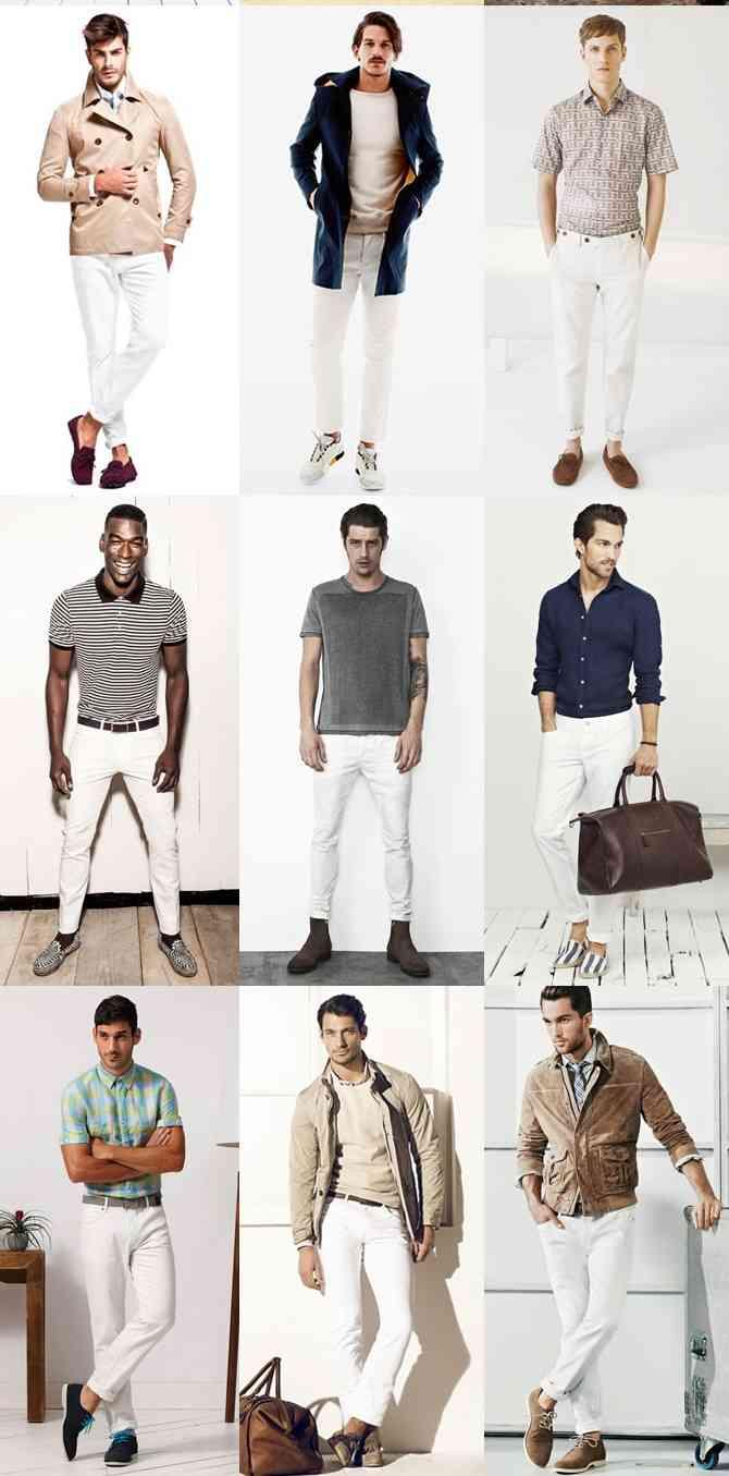 pantaloni albi la moda