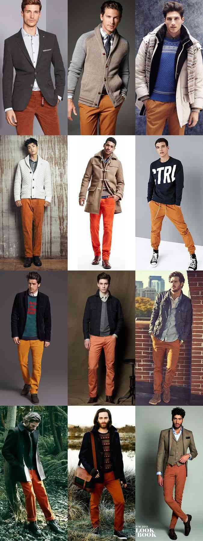 pantalonii portocalii la moda toamna 2015