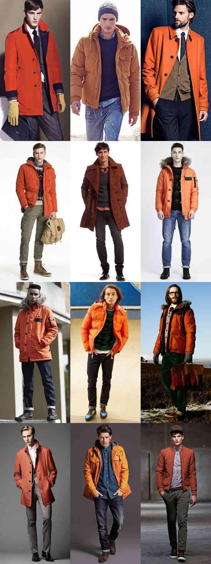 portocaliul la moda iarna 2014 barbati