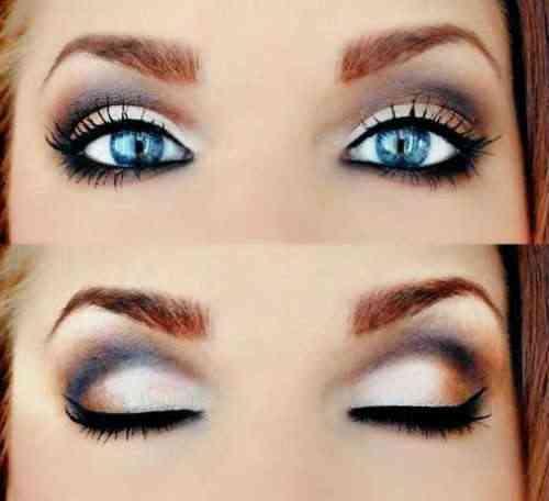 1 machiaj ochi albastri