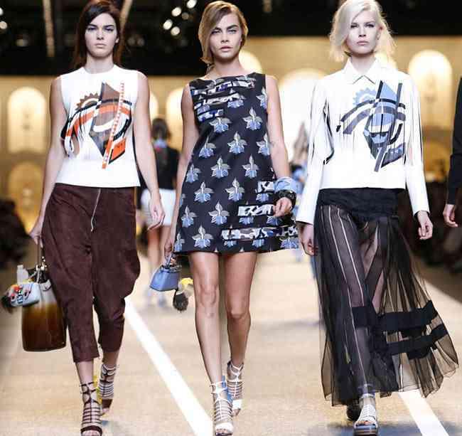 colecția Fendi primăvară- vară 2015 - Milano Fashion Week